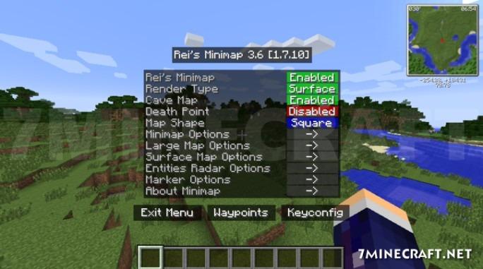Rei's Minimap Mod 1 14 4/1 13 2/1 12 2 (Minimap, Waypoint