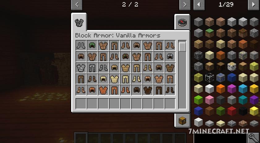 Block Armor Mod 1.16/1.15.2