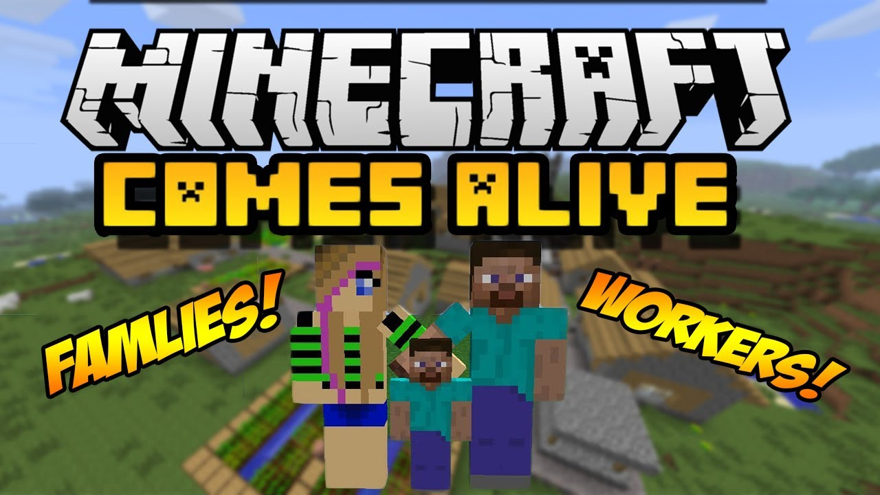 Minecraft Comes Alive Mod 1 16 2 1 15 2 Replaces Villagers With Humans